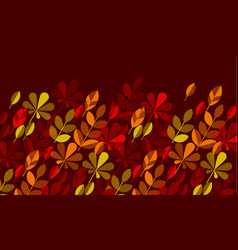autumn leaf fall geometry modern motif vector image