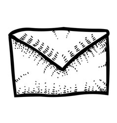 cartoon image of envelope icon mail symbol vector image