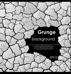 cracks with frame and text vector image vector image