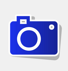 digital camera sign new year bluish icon vector image vector image