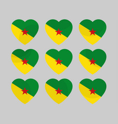 heart icons with the flag of suriname i love vector image