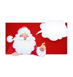 santa claus with speech vector image vector image