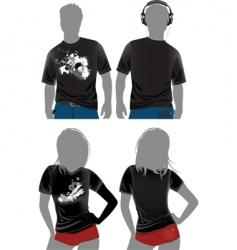 T-Shirt design templates vector image
