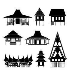 thai architecture pavilion history building vector image