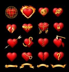 volumetric hearts vector image vector image