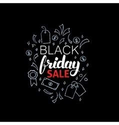 Black Friday Sale Poster Design vector image