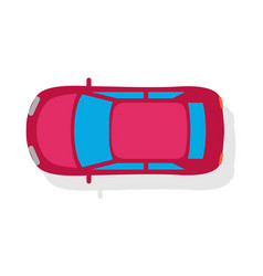 passenger car top view flat style icon vector image vector image