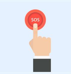 Sos button vector