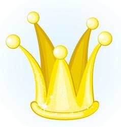 cartoon golden crown vector image vector image