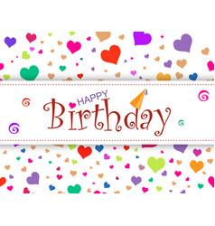 horizontal design template card happy birthday o vector image vector image