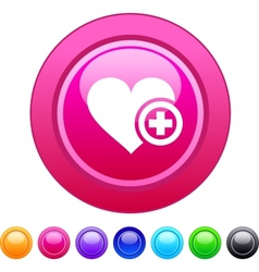 Add to vavorite circle button vector image vector image