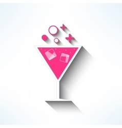 cocktail symbol made in modern flat design vector image