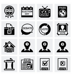 Election icon set vector image