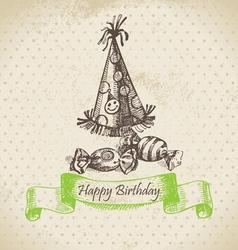 Happy Birthday hand drawn vector image vector image