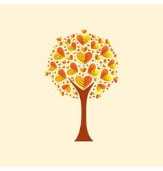 heart-shaped leaves vector image