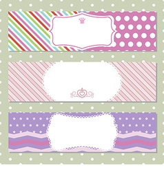 Horizontal banners vector image vector image
