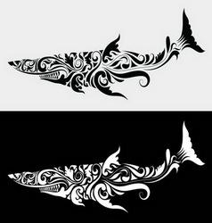 Shark ornament vector image vector image