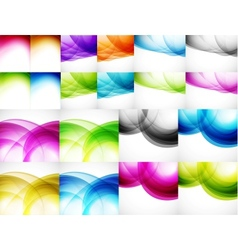 Wave color backgrounds vector image