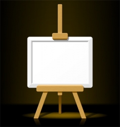wooden easel with blank canvas vector image vector image