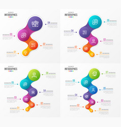 abstract infographic designs timeline vector image