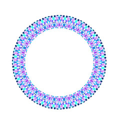 Abstract mosaic round border - circular element vector