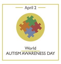 Autism awareness day vector
