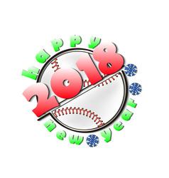 Baseball and new year 2018 vector