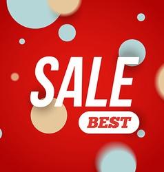 Best sale banner or offer design template Sale vector image