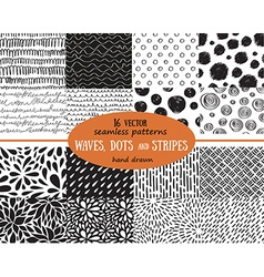 Big set of seamless patterns tiling for abstract vector