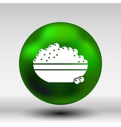 Black caviar logo seafood appetite appetizer vector