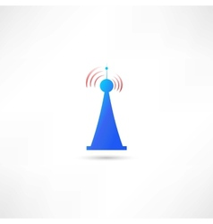 blue antenna vector image
