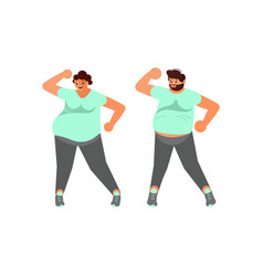 body positive plus size husband and wife dancing vector image