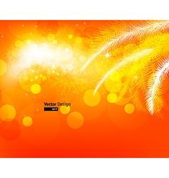 Bright Orange Christmas Background vector