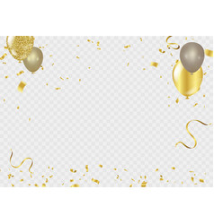 celebration background template ribbon gold vector image