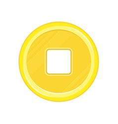 chinese coin icon vector image