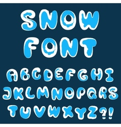 Christmas snow alphabet vector image