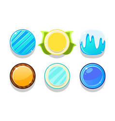 colorful glossy balls set shiny buttons game vector image