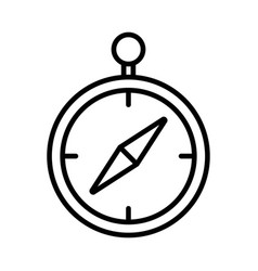 compass line icon on white background vector image