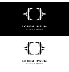 Creative icon monogram design elements with vector