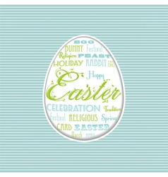 Easter egg typographical background vector
