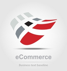 Ecommerce busines icon vector