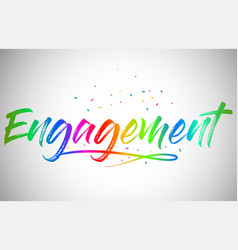 Engagement creative word text vector
