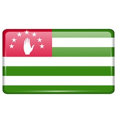 Flags Abkhazia in the form of a magnet on vector image