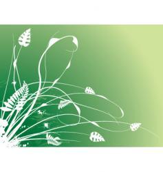 floral stroke vector image