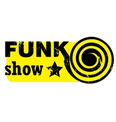 Funk show stamp vector