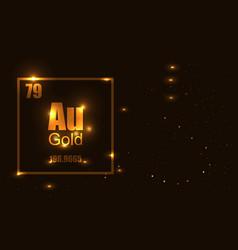 gold molecula vector image