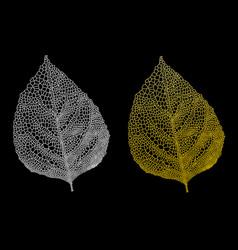 golden leaves gold leaf set vector image