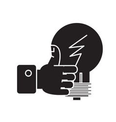 good idea hand with thumb up black concept vector image