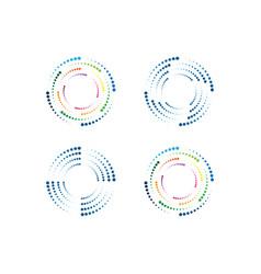 Halftone circle dots design vector
