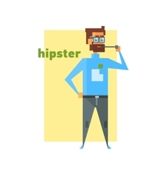 Hipster Smoking Abstract Figure vector